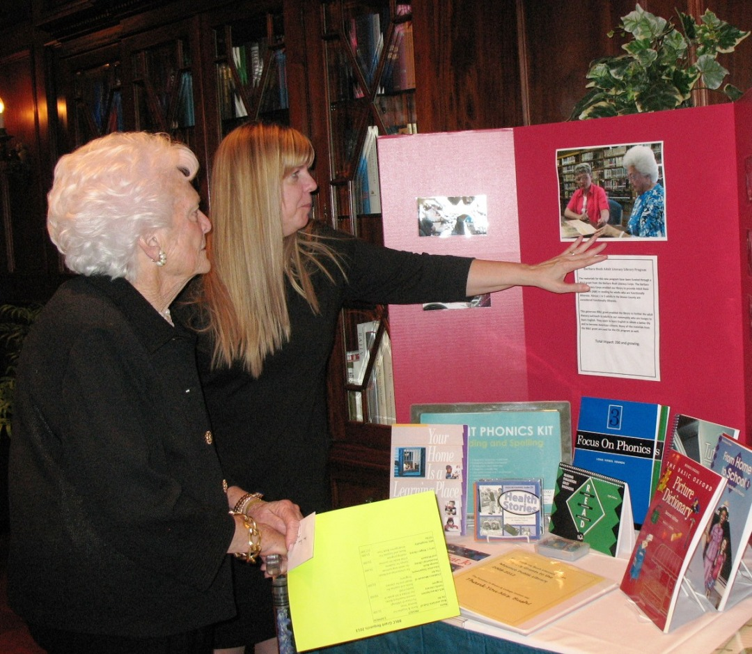Bobbee Pennington & Barbara Bush 2013
